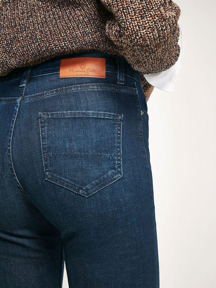 DENIM BROEK MET CONTRASTDETAILS voor DAMES - Jeans van Massimo Dutti voor de herfst winter 2017 à 59.95. Natuurlijke elegantie!