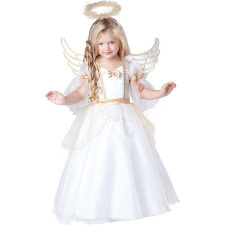 Toddler Girl Angel Costume by Incharacter Costumes LLC 60006, Size: 25 Months, Multicolor