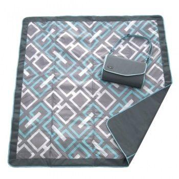 Couverture de Pique-nique 5' x 5' - Gris/aqua