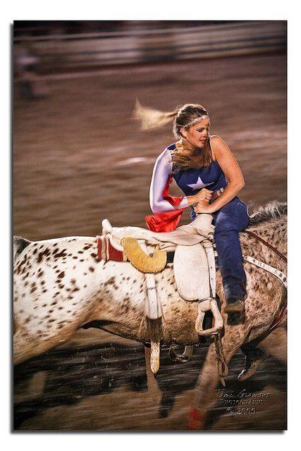 Spencer, Trick Rider of Riata Ranch Girls | Prescott Rodeo, Arizona | Flickr - Photo Sharing!