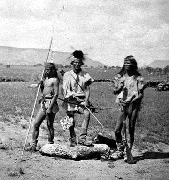 Chiricahua Apache men - 1873