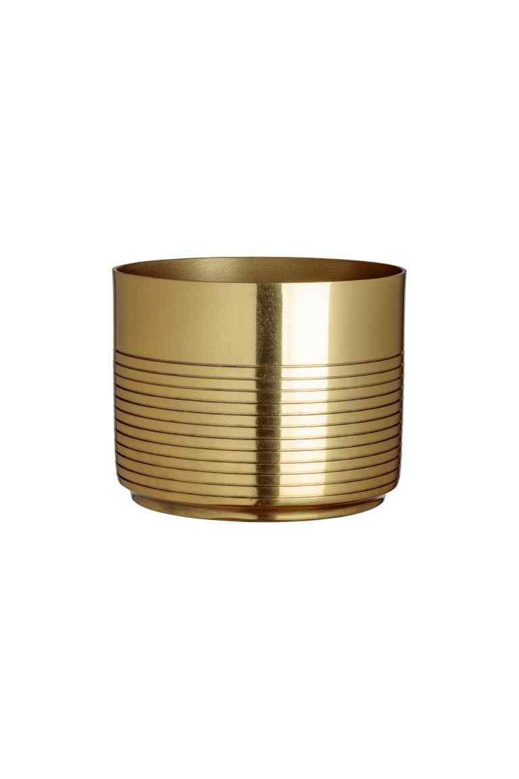 Kovový květináč - Zlatá - HOME | H&M CZ 1