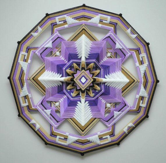 """Плетеные мандалы """"Ojo de Dios""""-4"""