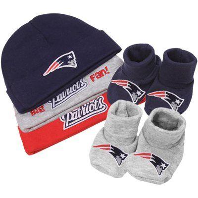 Gerber New England Patriots Infant 5-Piece Beanies & Booties Set