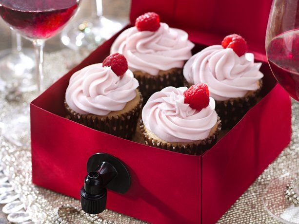 Wine + Cupcakes! Betty Crocker has a few different versions - rose, champagne, zinfandel, and sauvignon blanc. Yum!!!