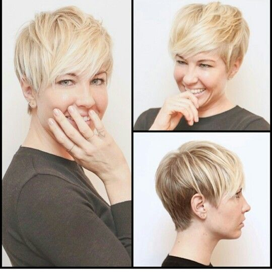 cute short 'do, long in front