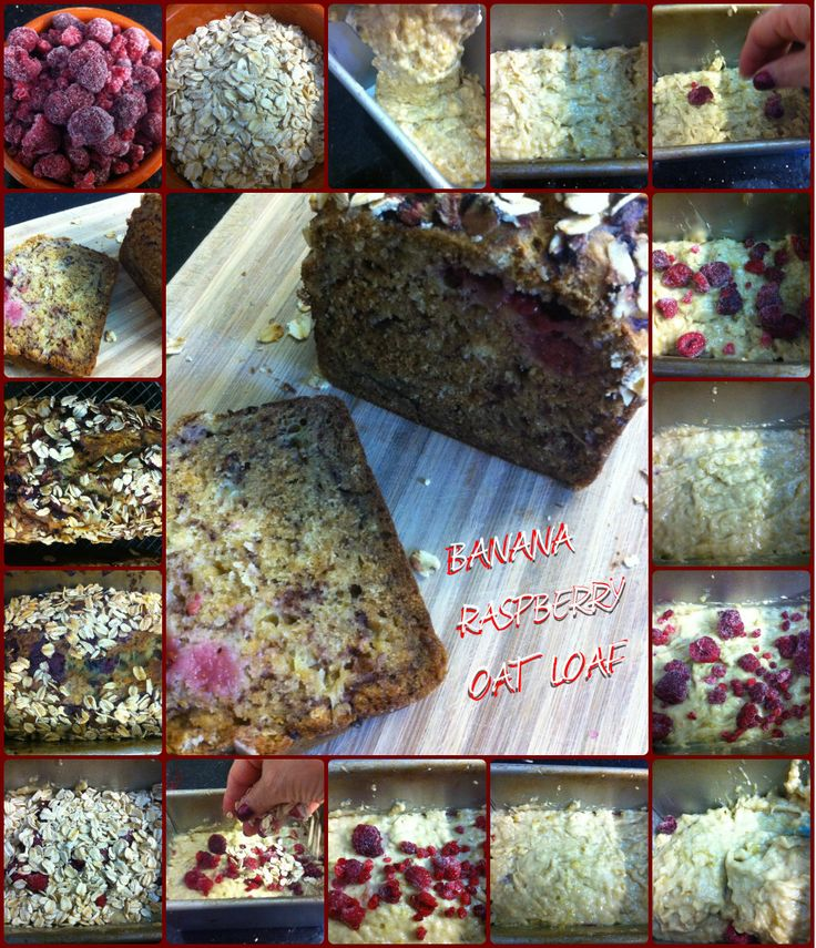 Banana Raspberry Oat Loaf! Expand the pin and check out our recipe idea! You will love it!