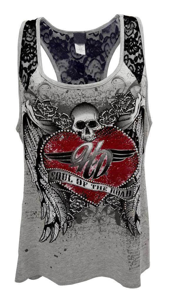 Harley-Davidson Womens Tank Top, Embellished Soul Of The Road