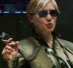 Kara Thrace Battlestar. The one and only.