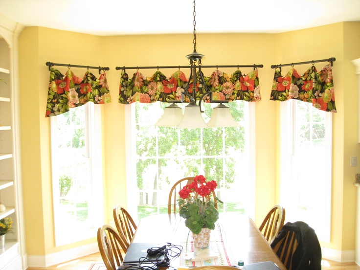 Window Valances Frame Out This Bay Area In A Kitchen Add Color Wrought