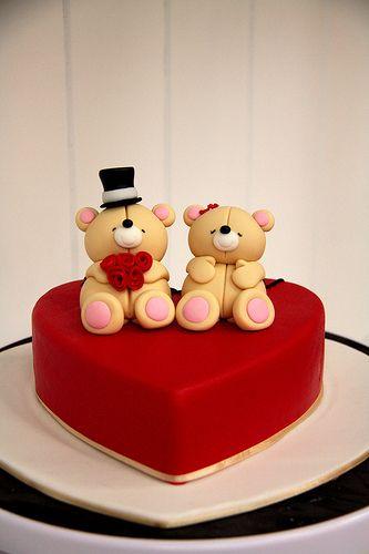 Een cake voor een stelletje of voor Valentijnsdag