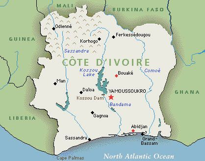 Best Côte DIvoire Images On Pinterest Ivory Coast Africa - Ivory coast map of africa
