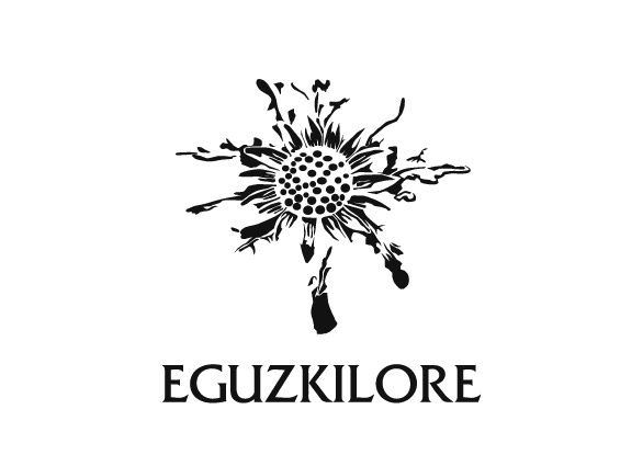 """Eguzkilore is a brand of jewelery. We made for them a new logo and a new visual code. Eguzkilore means """"the sun of flower"""" in basque, so the logo synthesized the symbol of this flower."""