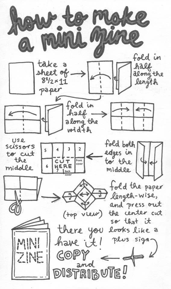 how to make a mini zine by Jenna Brager