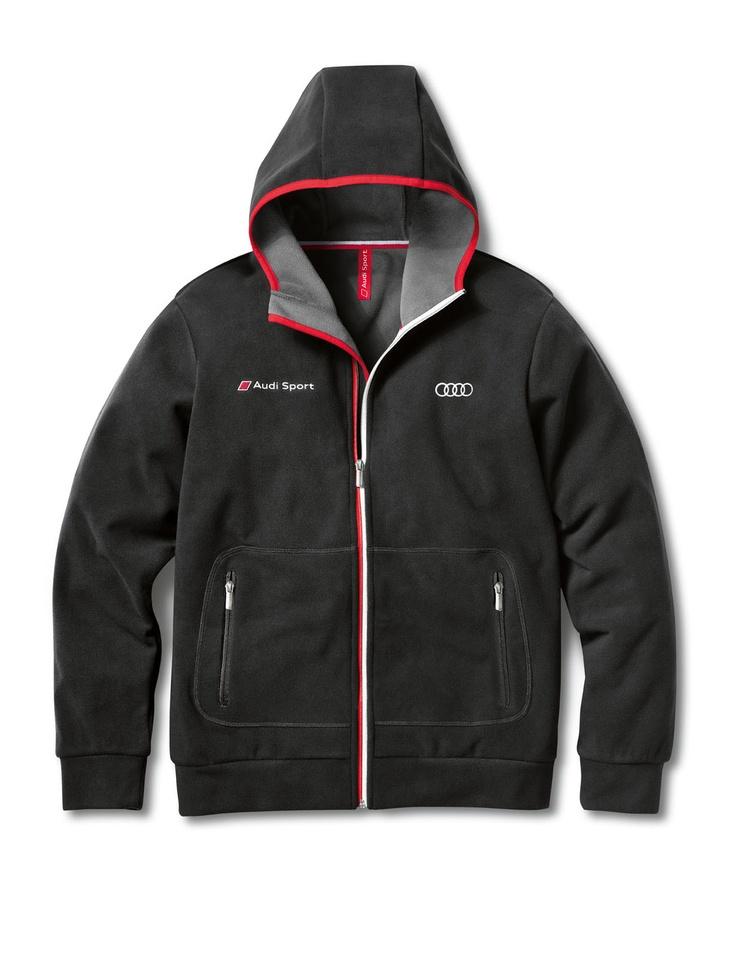 Men's Audi Sport fleece jacket Colour: dark grey exterior, light grey inner.    Available from: http://www.m25audi.co.uk