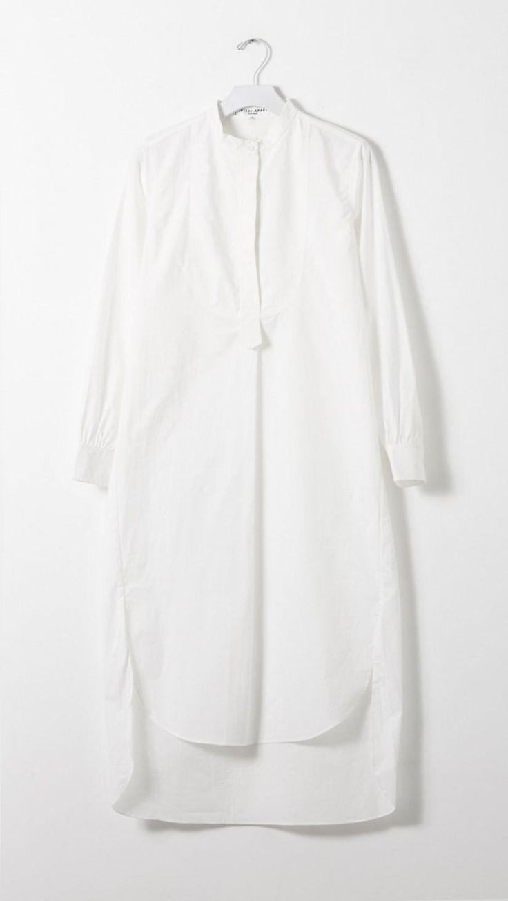 Apiece Apart Samara Shirt Dress in White   The Dreslyn