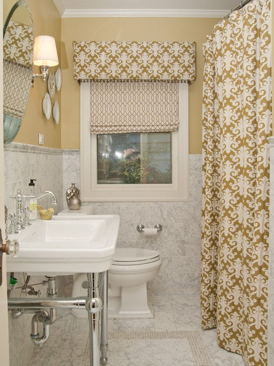 Tall shower curtain, matching valence  Cornice Board Bed Design, Pictures, Remodel, Decor and Ideas - page 8