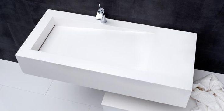 Mano Square badkamer | Geef jouw badkamer een sculpturale look. Functionele sculptuur en wasbak