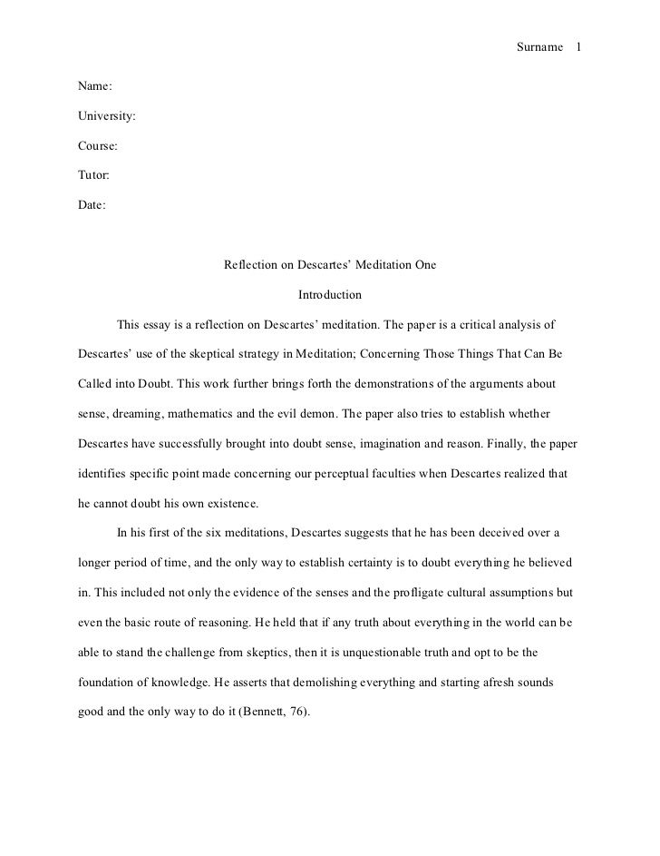 "critical self reflection essay ""critical thinking through writing"" assignment: reflection papers first reflection: from class discussion, interviews, and assigned readings, reflect on the."