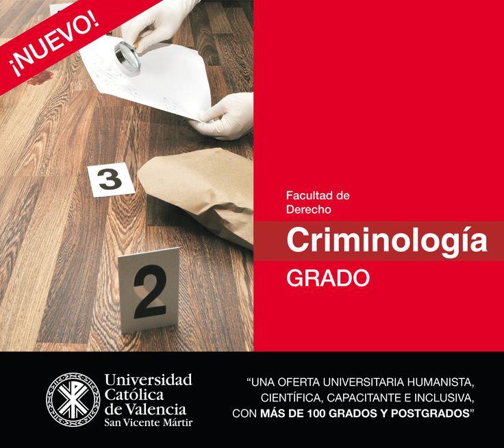 #Grado en #Criminología de la #UCV #CompromisoUCV #TuGradoUCV