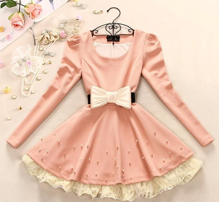 Color:pink,apricotSize:XS,S