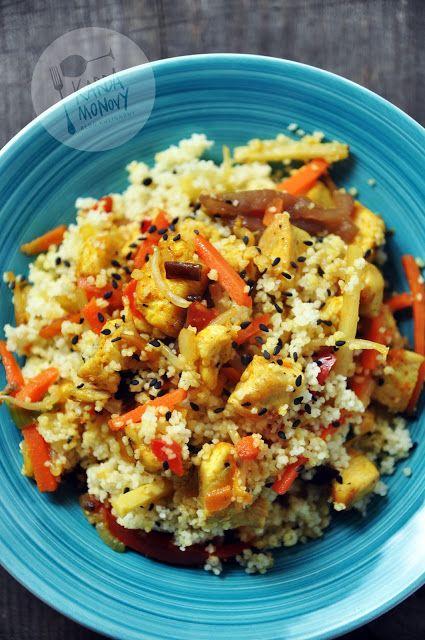 Kardamonovy: Kurczak z kuskusem i warzywami chińskimi