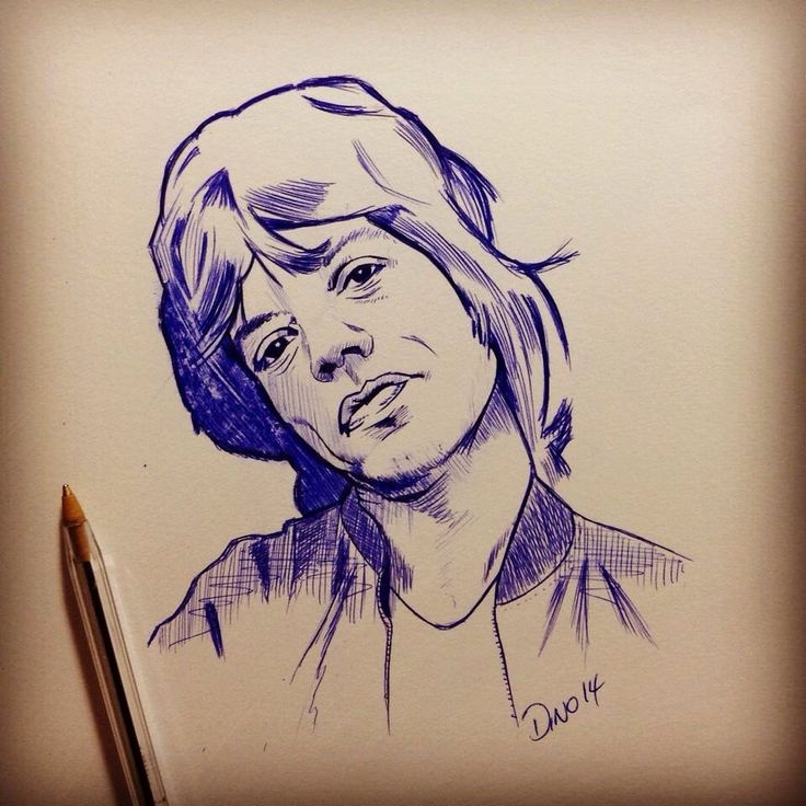 Mick Jagger in ball point