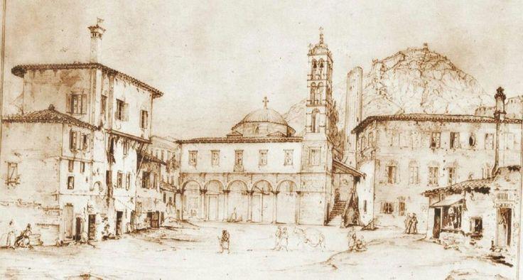 Ag. Giorgios, Nauplion drawn by Leo von Klenze, 1834 #cityofnafplio #Nafplio #nauplie #ag.giorgios