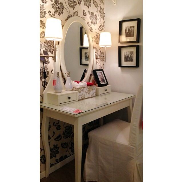 14 best vanity obsession images on pinterest for Bedroom vanity ikea
