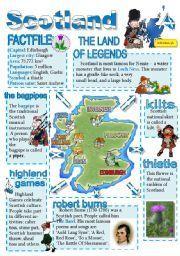 English teaching worksheets: Scotland