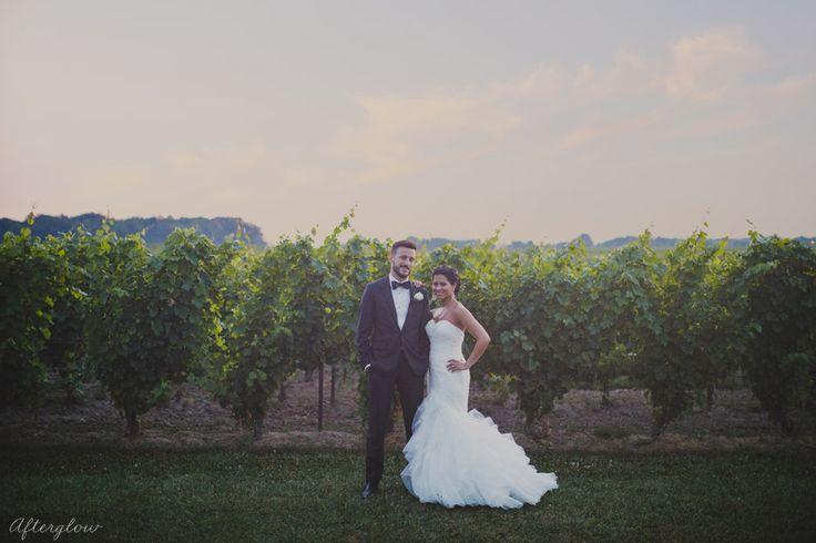 Bride in Vineyard Niagara
