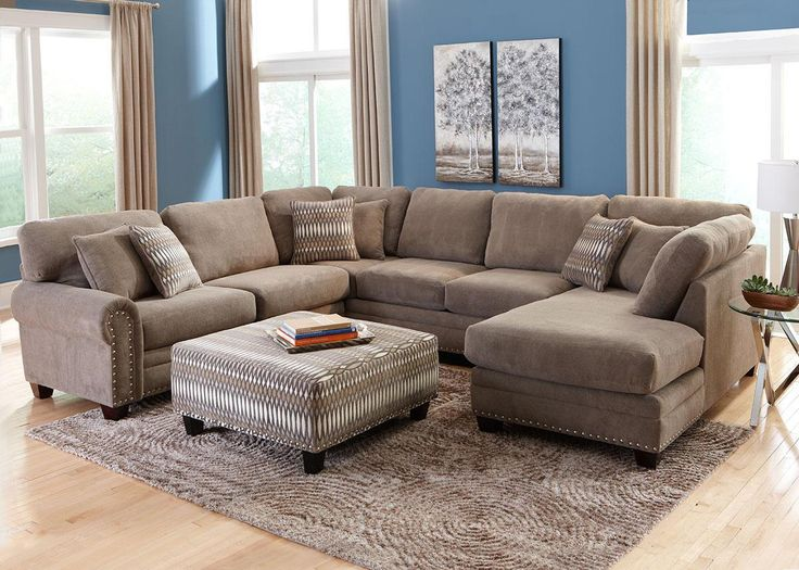 the milo sectional is a perfect complement to your living room and is