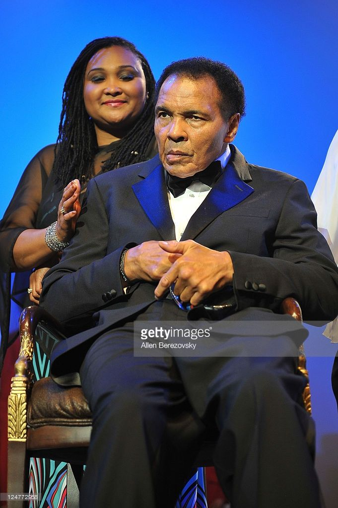 Former Boxer Mohammad Ali and daughter Maryum Ali attend the 4th Annual Life Changing Lives Gala Honoring Muhammad Ali at City National Grove of Anaheim on September 11, 2011 in Anaheim, California.