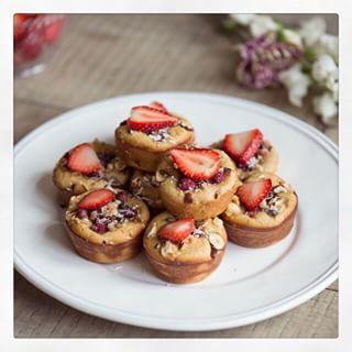 Strawberry and Almond Paleo Muffins - Madeleine Shaw