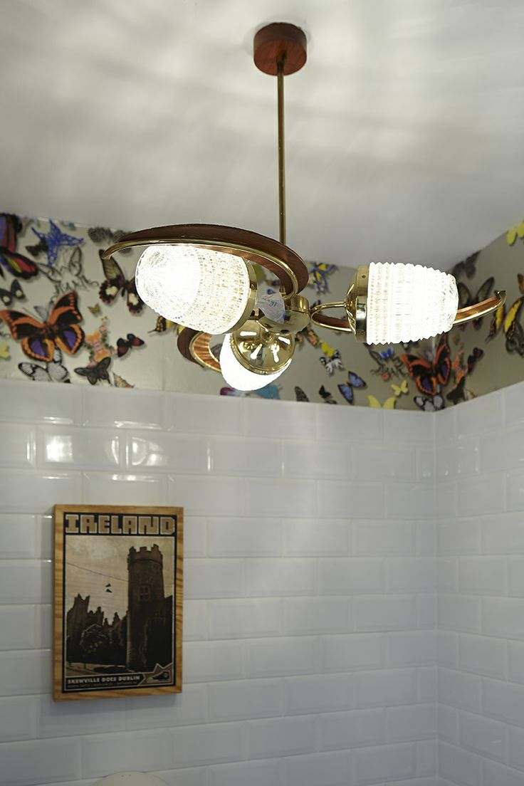 Christian bathroom decor - Bathroom Wallpaper By Christian Lacroix From Kelly Interiors Artwork By Skewville And Lamp From Decor On George S Street