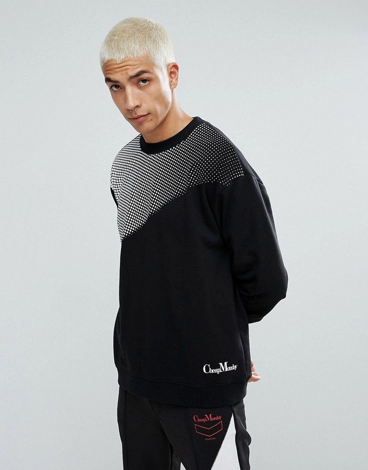 Cheap Monday Victory Sweatshirt in Black - Black