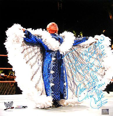 WWE RIC FLAIR SIGNED 16X20 INSCRIBED PHOTO WITH PIC PROOF 1