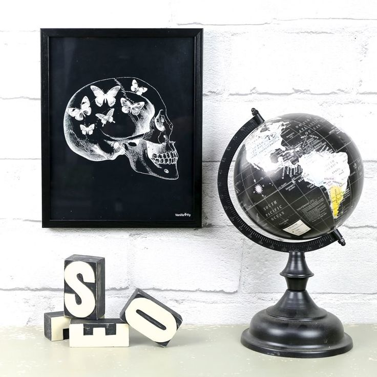 Add some contemporary artwork to your wall with this skull and butterfly print from Vanilla Fly. With Free Worldwide Delivery & No Minimum Spend at lisaangel.co.uk