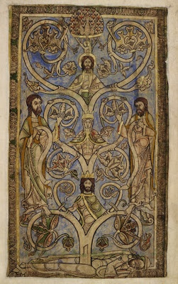 A Jesse Tree from the Winchester Psalter, a 12th century book of psalms from England, made for the brother of King Stephen.