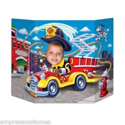 Fireman Fire Truck Photo Prop $15.99