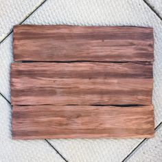 How to create a fake wood grain effect with foam board.