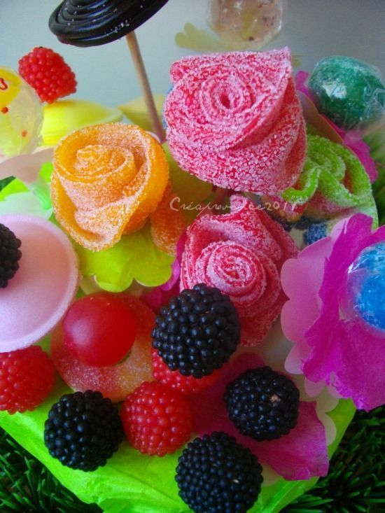Bouquet de bonbons. Candy flowers. Ramo de chuches