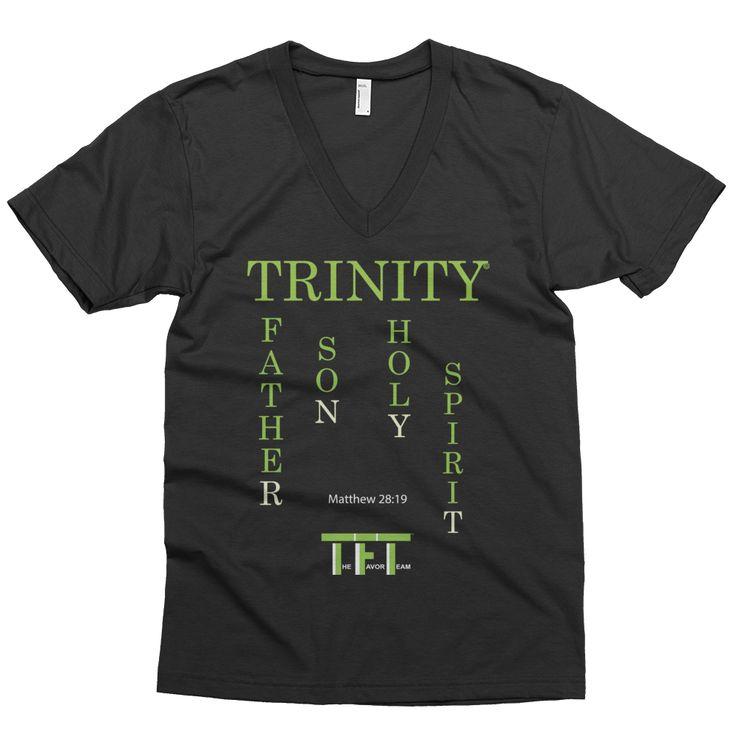 Trinity Father Son Holy Spirit Statement Shirt V-Neck