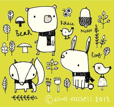 Lieblingsherbstillustration von Dawn Machell und pop-i-cok.