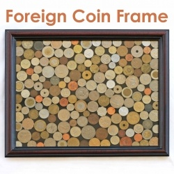 Take a collection of coins and turn them into a fun display piece to enjoy and show off!