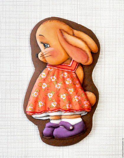 Gingerbread / Кулинарные сувениры ручной работы. Ярмарка Мастеров - ручная работа. Купить Пряник имбирный Зайка. Кулинарный сувенир. Handmade.