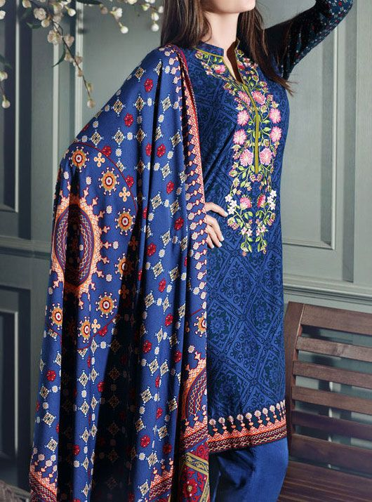 Buy Dark Blue Embroidered Pali Salwar Kameez by GulAhmed 2015 www.pakrobe.com Call:(702) 751-3523 Email: Info@PakRobe.com https://www.pakrobe.com/Women/Clothing/Buy-Winter-Salwar-Kameez-Online #WINTER #SALWAR #KAMEEZ