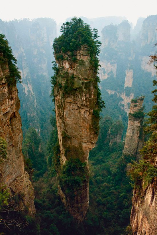 Pandora's Pillars - National Geographic Traveller India The Zhangjiajie National Forest Park in the Chinese province of Hunan