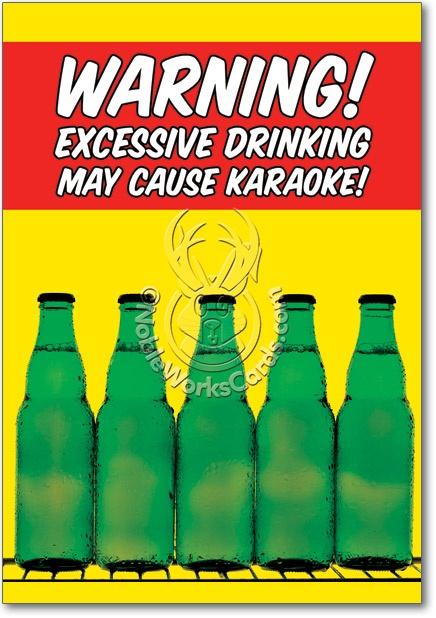 Karaoke Funny Birthday Greeting Card