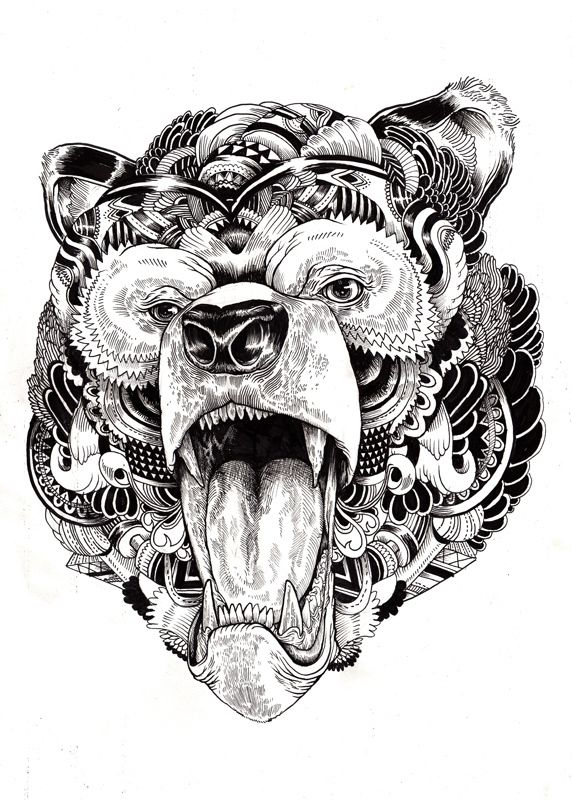 Animal illustrations and shirt designs by Iain Macarthur, via Behance